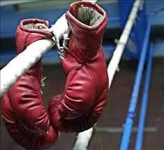 Peleas de boxeo en una prisión de San Francisco.